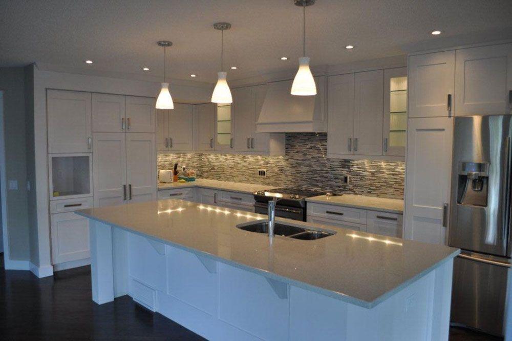 Sparkling White Quartz Countertop For Your Kitchen Design Condo