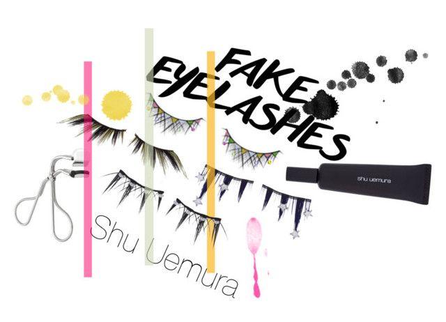 """Shu Uemura"" by sarahistheluckyone ❤ liked on Polyvore featuring beauty, shu uemura, ShuUemura and fakeeyelashes"