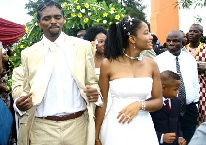 African football stars and their wives