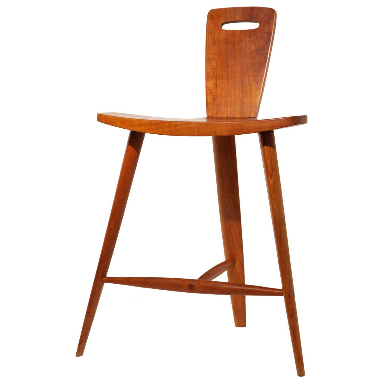 Extremely Rare Three-Legged Stool by Tage Frid | From a unique collection  of antique - Extremely Rare Three-Legged Stool By Tage Frid From A Unique