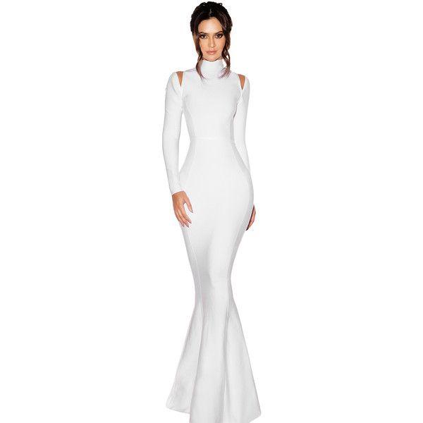 Full length long sleeve white dress