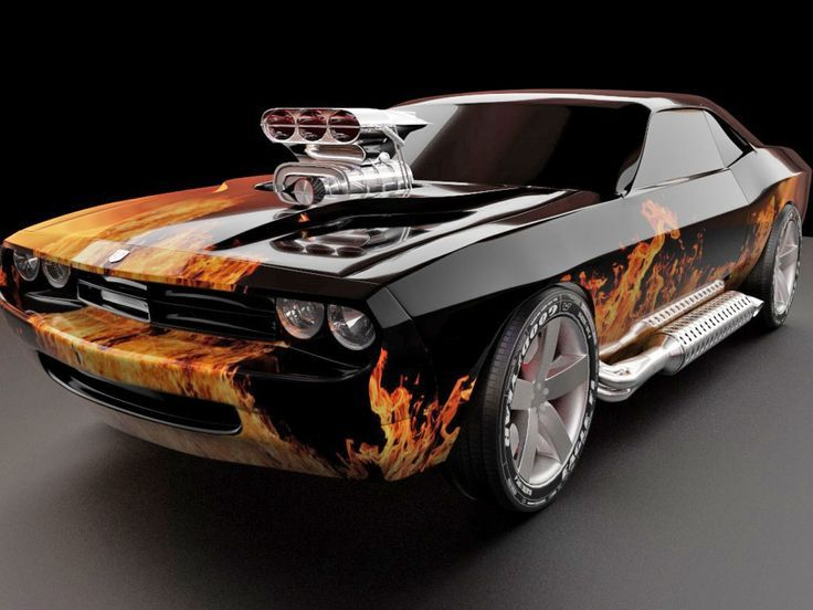 Awesome 2017 Dodge Challenger Hell Cat 702 On Fire And Is Hot As Hell! So Is Design