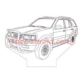 Opel Frontera 3d illusion lamp plan vector file
