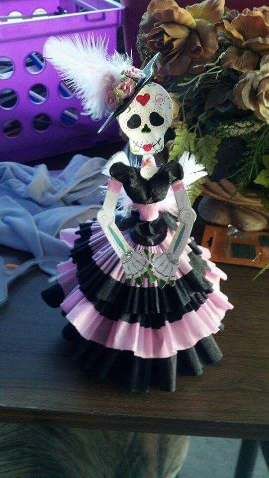 Calavera Rosa Cosas De Halloween Calavera De Papel Y