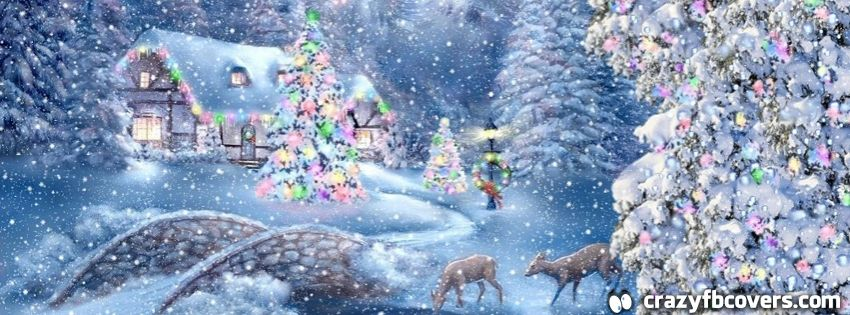 Beautiful Country Christmas Scene Facebook Cover Timeline