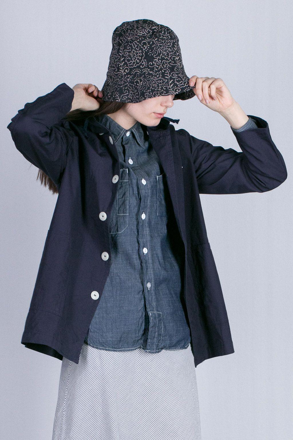 Engineered Garments Bucket Hat - Navy Paisley Twill  d1caac2f2c38