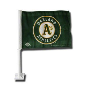 She'd probably like one of these, too.    MLB - Oakland Athletics Car Flag