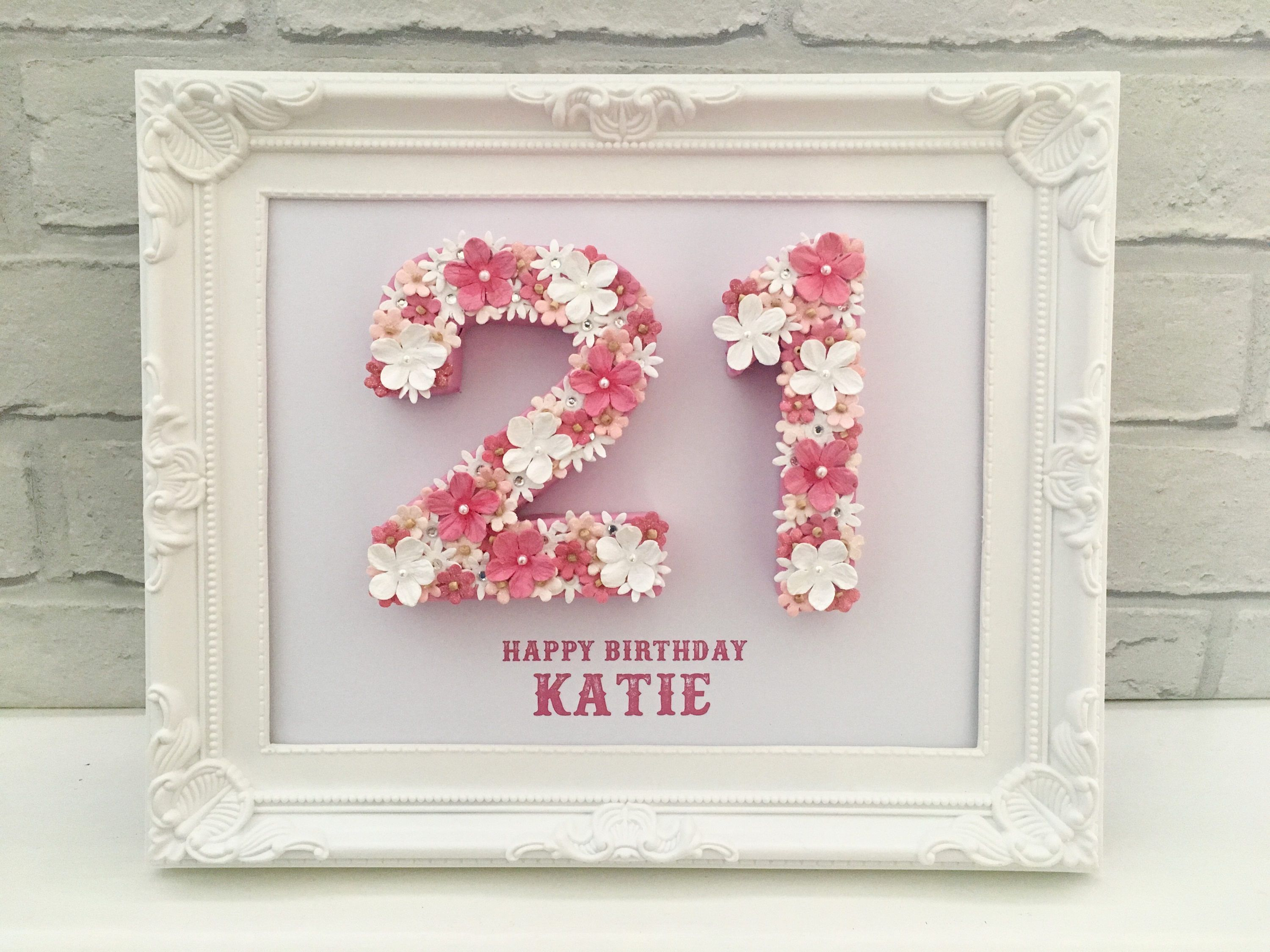 Unique 21st Birthday Gift Celebration Idea For Daughter Personalised Framed By