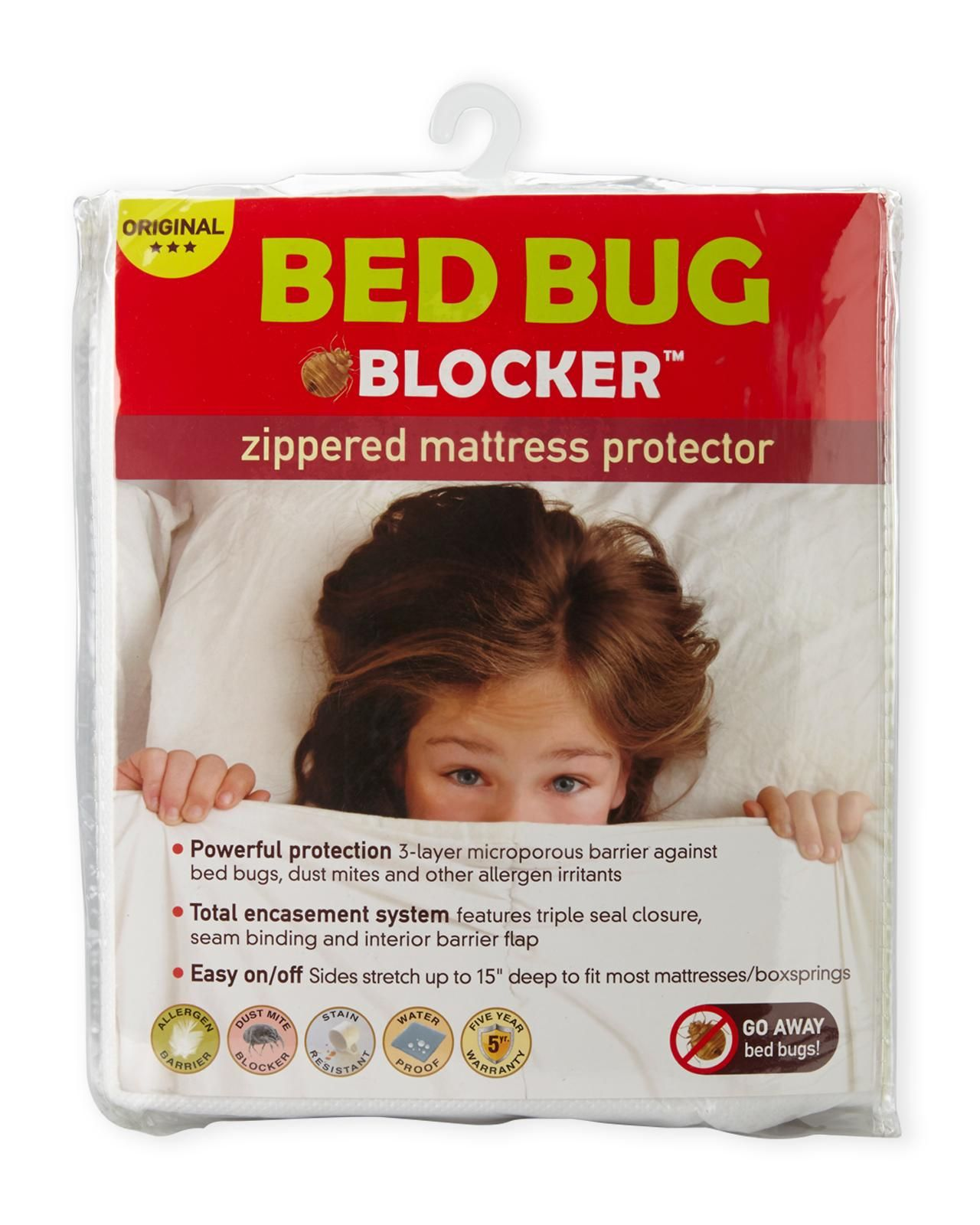 Bed Bug Blocker White King Zip Mattress Protector