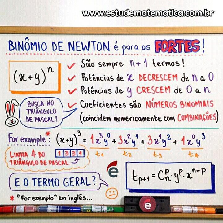 Resumo De Matematica Binomio De Newton Com Imagens Estude
