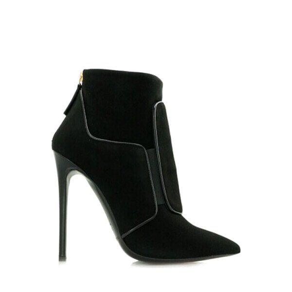 cheap sale best prices Fashion Pointed Toe and Stiletto Heel Design Ankle Boots For Women - Black 37 cheap clearance outlet 2014 new online cheap buy cheap official site 7xBegRhaE
