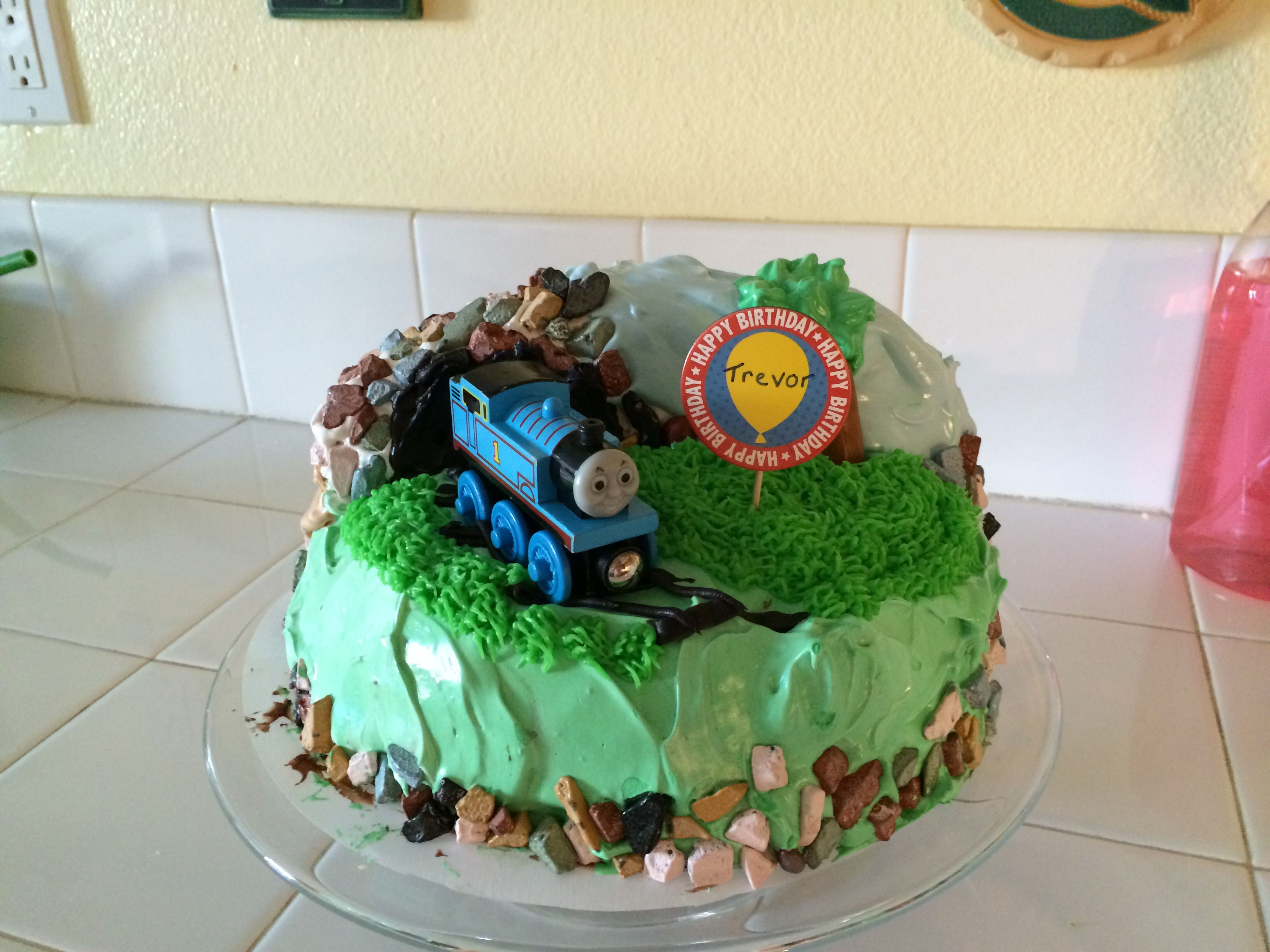 Marvelous Thomas The Train Cake Found The Chocolate Rocks In The Bulk Bins Funny Birthday Cards Online Overcheapnameinfo
