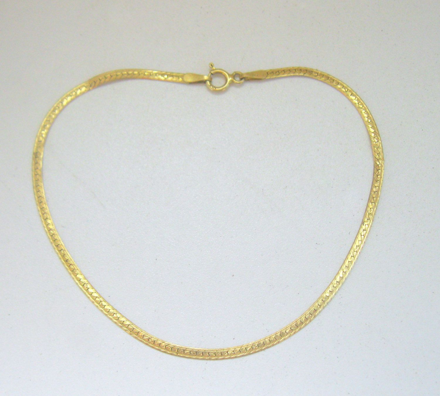 SOLID 18K GOLD Bracelet Italy 8 Inches Long Vintage 80's Priced Slightly above Spot Gold Price!! by PASTIMEJEWELS on Etsy
