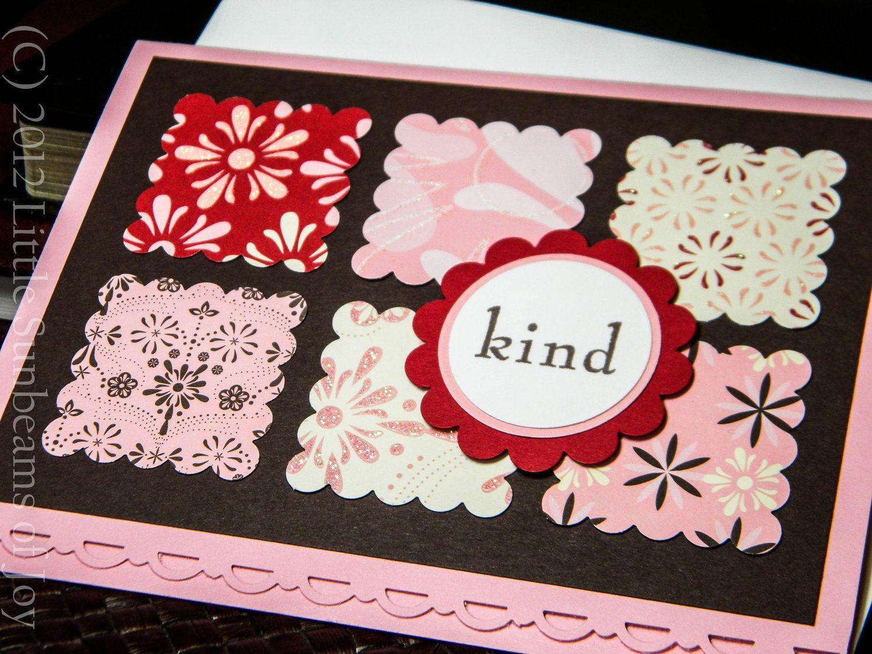 handmade greeting card  kind  blank inside 300 via