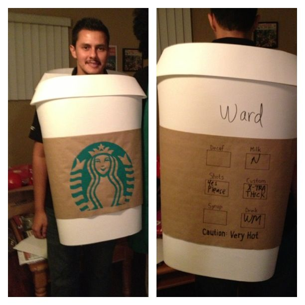 Starbucks Cup Costume Used Foam Core Poster Board And
