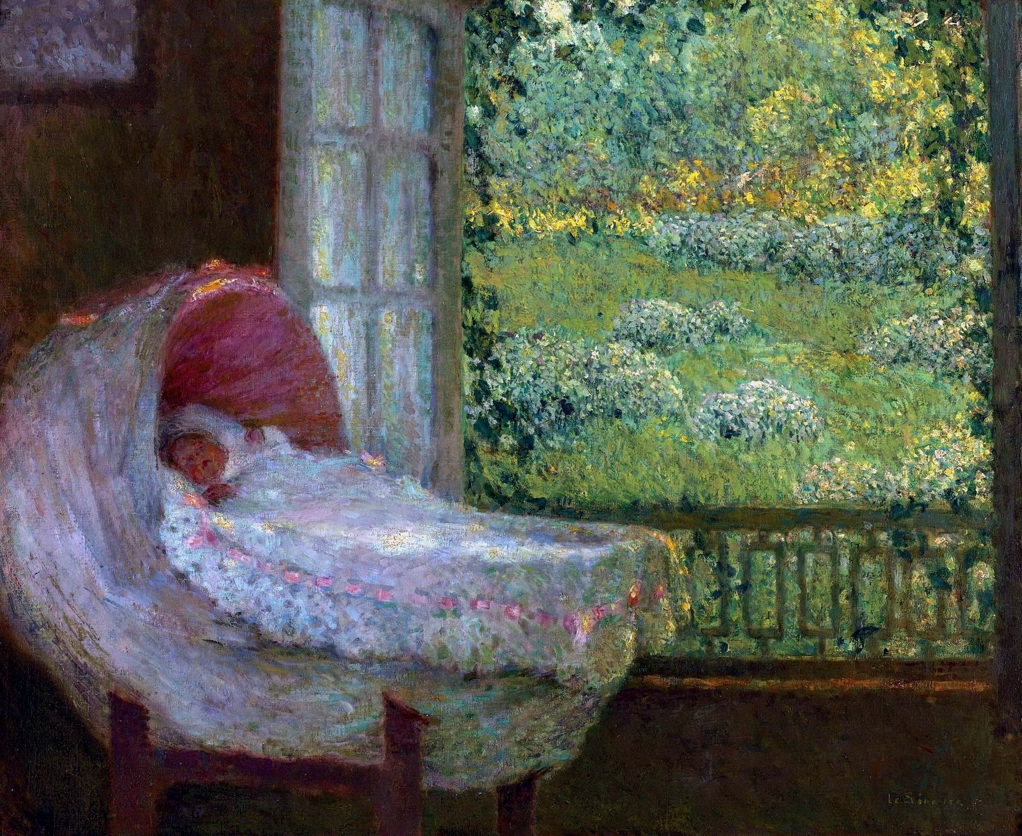 """Henri Le Sidaner - """"The Cradle"""","""