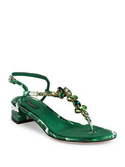 Jewel Sandals BIANCA Leather Spring/summer Dolce & Gabbana Deals Sale Clearance Collections Cheap Online Cheap Sale Sast CxU7xagJKP