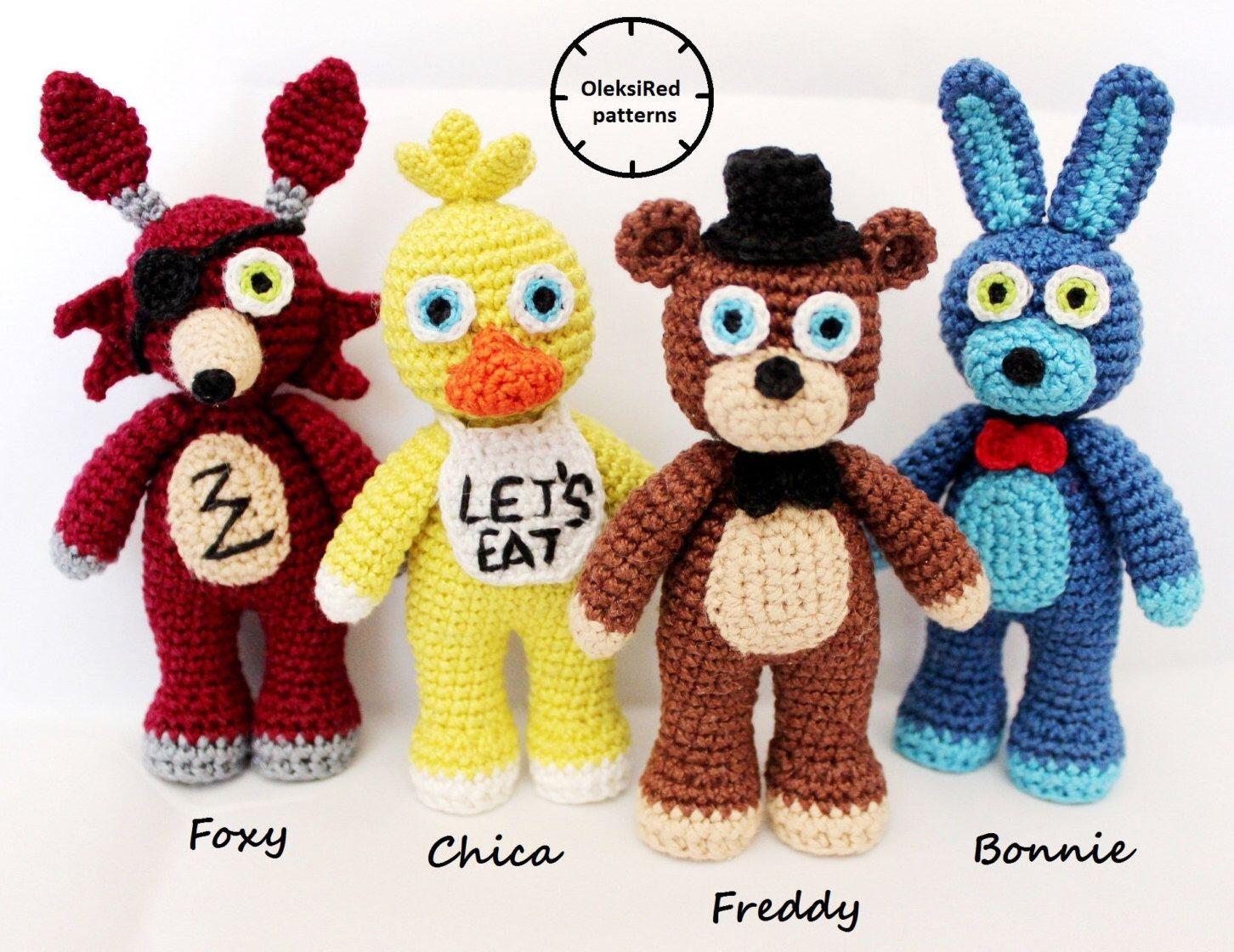 Amigurumi Crochet Personajes : Cinco noches en personajes de fnaf crochet patrones de freddy