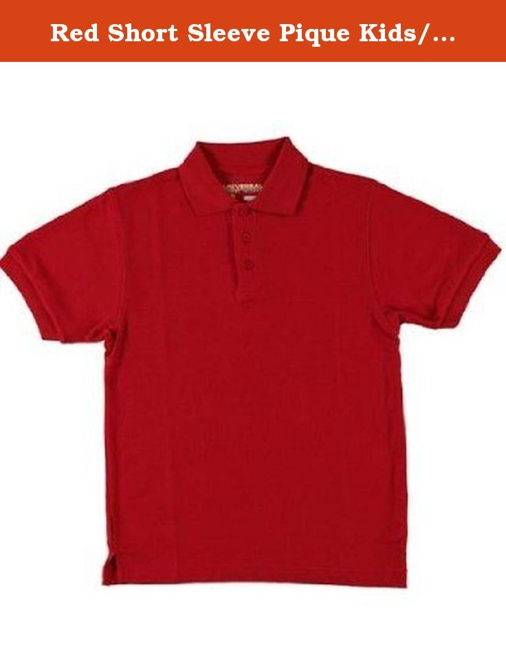 eab297771 Red Short Sleeve Pique Kids/teens Unisex Polo Universal School Uniforms.  Red Short Sleeve Pique Polo is a durable school shirt made of a stain  release ...