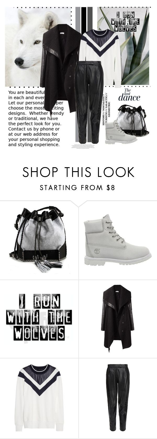 """Black and White"" by madina9 ❤ liked on Polyvore featuring Carianne Moore, Timberland, Helmut Lang, Theory, MuuBaa, Anja, women's clothing, women, female and woman"