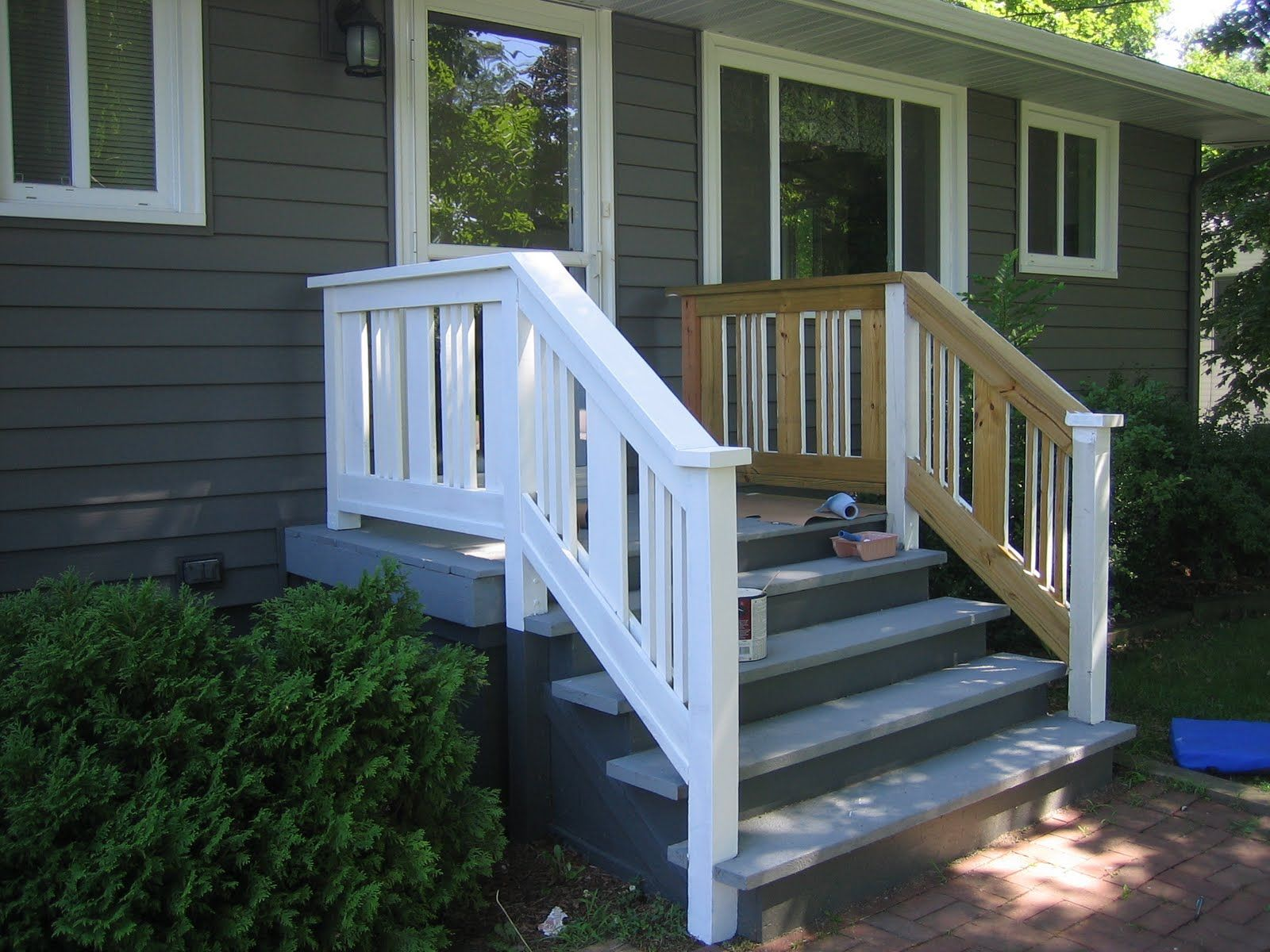 porch railing ideas swings wood designs front railings with fabulous