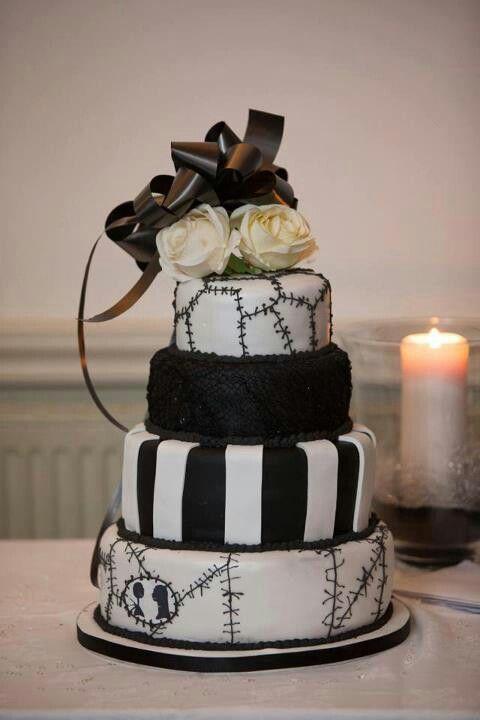 Nightmare before Christmas Wedding cake Bolo de casamento