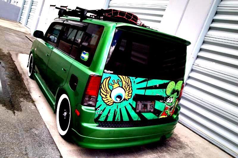 Yuba City Nissan >> green Scion xB with decals | Scion Sights | Toyota scion ...
