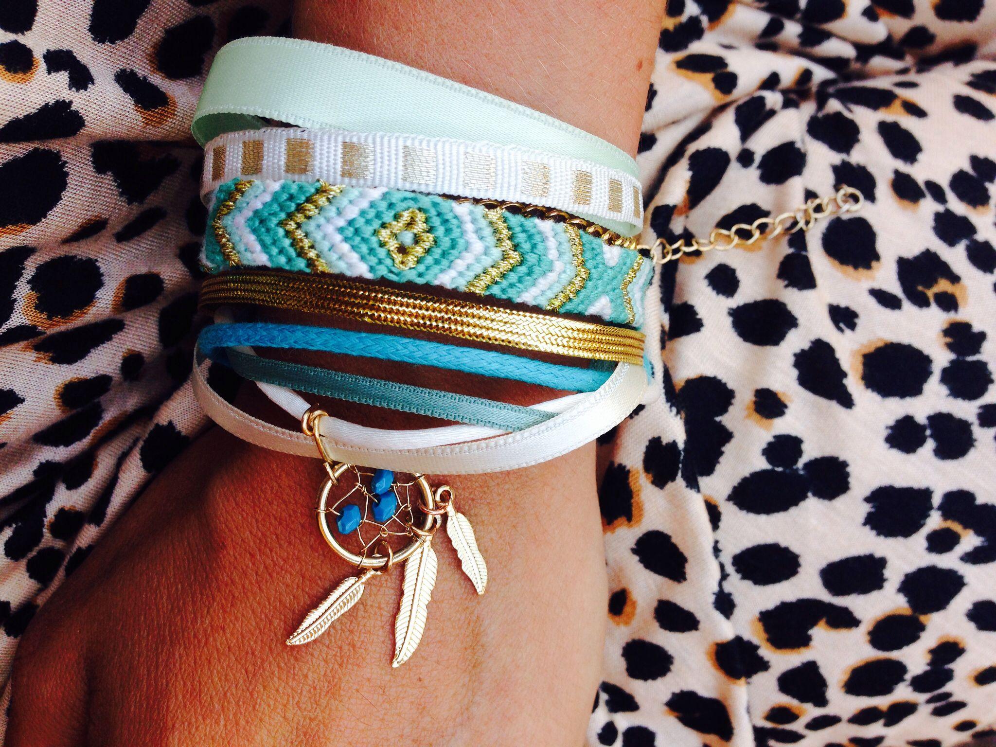 Handmade summer friendship bracelet