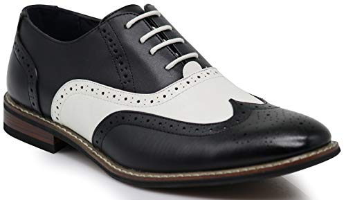 Retro Saddle Shoes: Black & White, Two Toned, Oxford Shoes