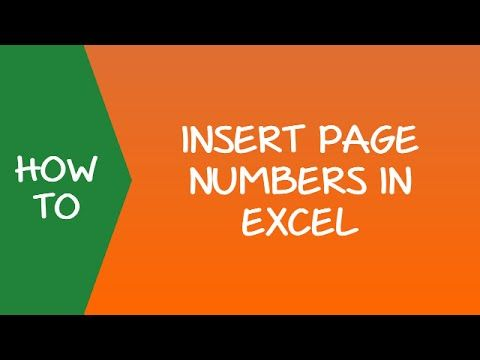 How to Insert Page Numbers in Excel Video   wwwyoutube
