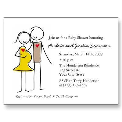 coed baby shower invitations different couples baby shower