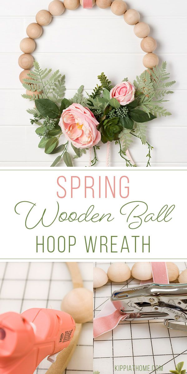 Photo of Easy Spring Hoop Wreath | Wood ball