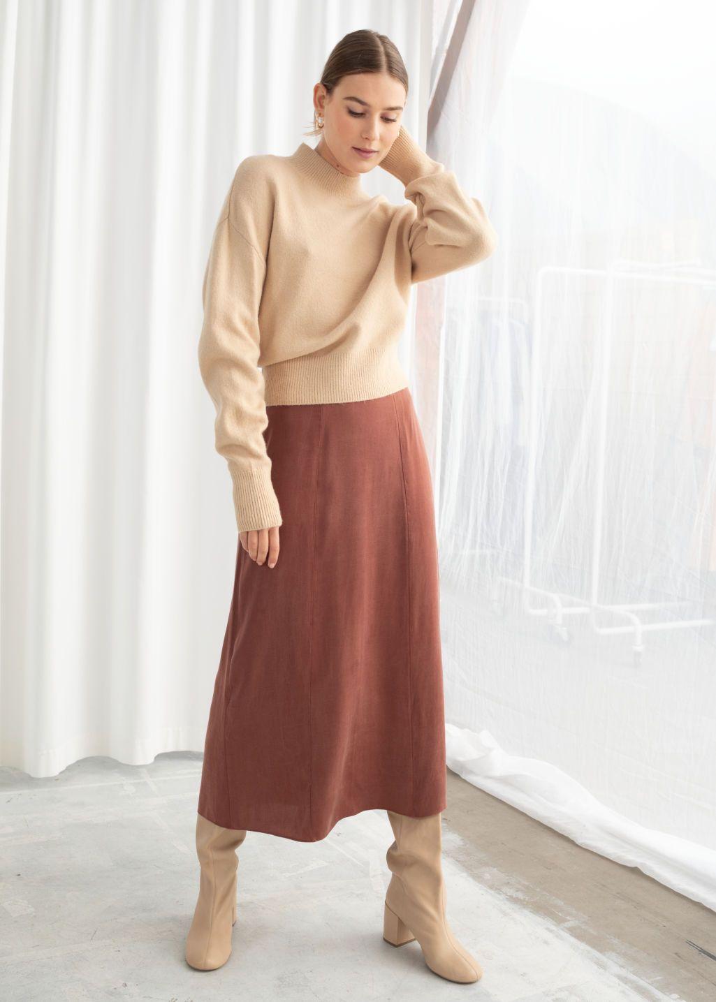 c7853fba85 A-Line Midi Skirt in 2019 | Wants | Midi skirt, Skirts, Fashion
