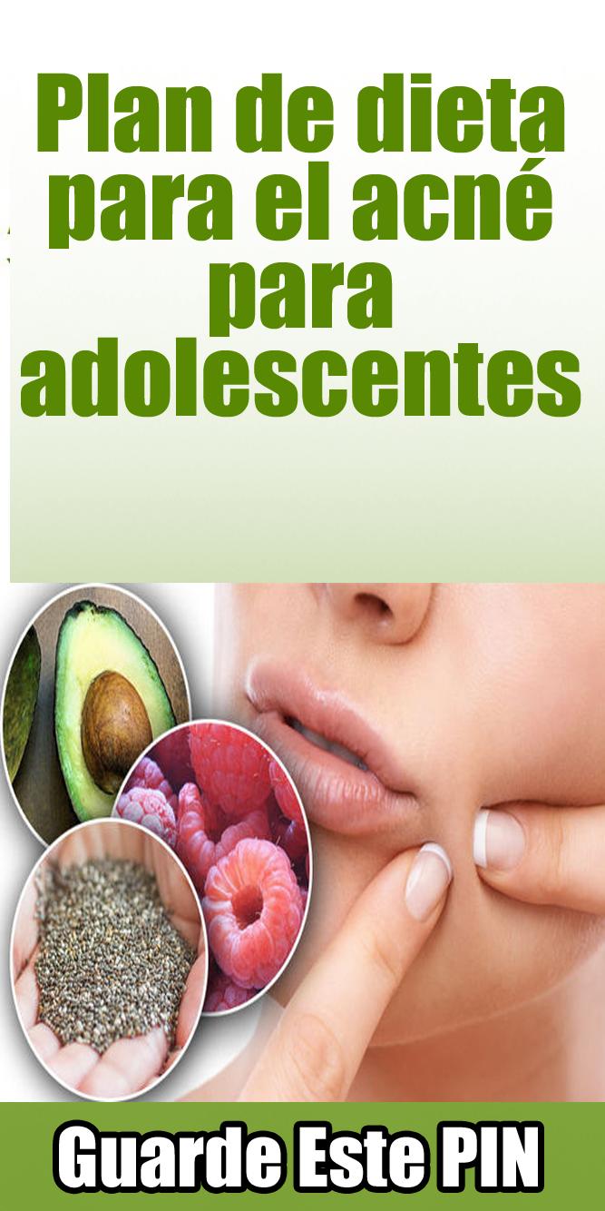 dieta para acne severo