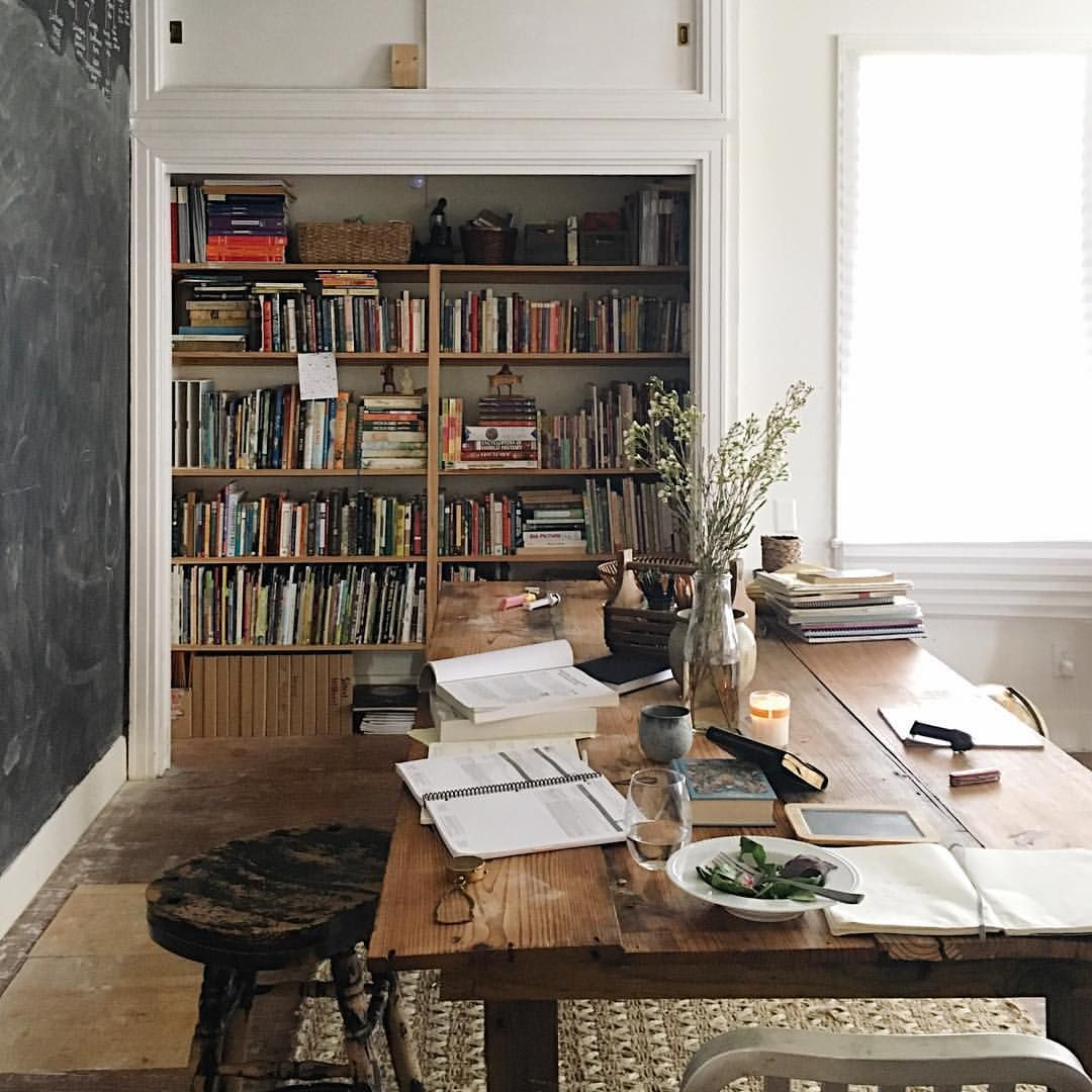 Old Study Room Design: Dining Room Functions As A Library And Study Room