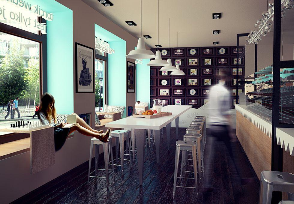 projekt wnętrz kawiarni