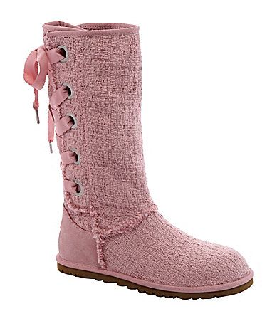 UGG Australia Womens Heirloom Lace Up Boots #Dillards - I soooo want these boots!