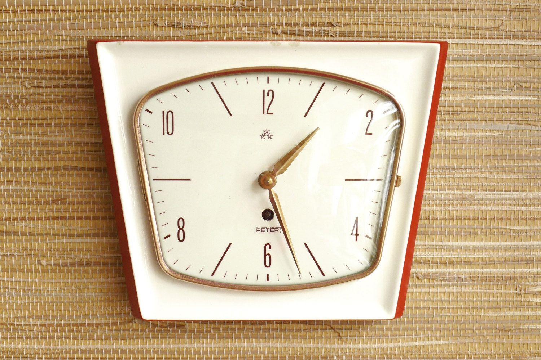 Lovely Kitchen Clock Wall Ceramic Porcelain