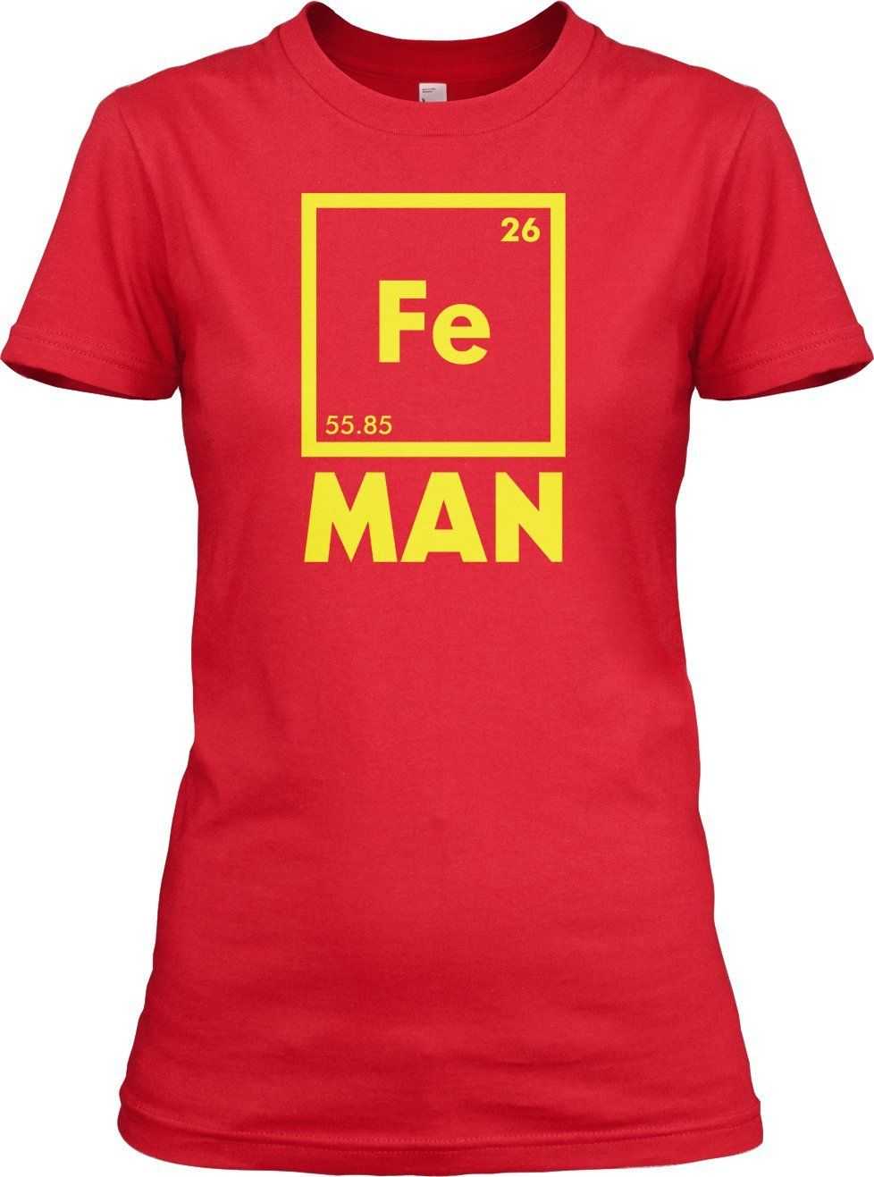 Womens iron science t shirt funny periodic table tee for women womens iron science t shirt funny periodic table tee for women gamestrikefo Image collections