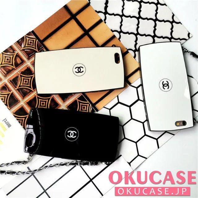 0d91132088fd CHANEL iphone7 パウダーケース パロディ風 チェーン付き アイフォン7 プラス携帯カバー ブランド シャネル iphone6s