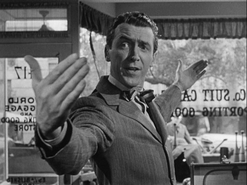 James Stewart (ator favorito do meu avô materno) em It's a Wonderful Life