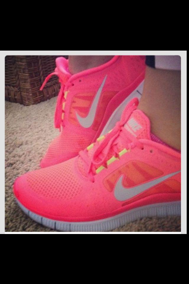 Nice bright neon colored nike running