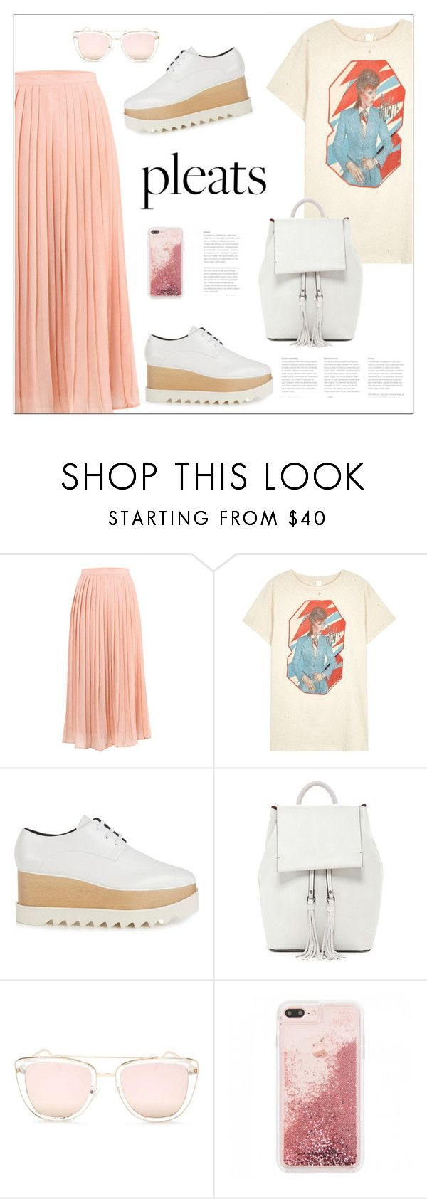 """Give Me Pleats, Please!"" by bliznec ❤ liked on Polyvore featuring MadeWorn, STELLA McCARTNEY, French Connection, Quay, pleats, polyvoreeditorial and polyvorecontest"