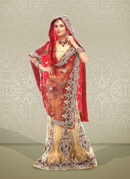 Fascinating Beige Net Embroidered #Lehenga Choli #bridallehenga #weddinglehengas #ethnicwear #womenapparel #womenfashion