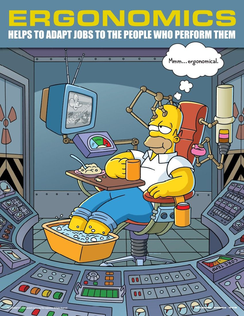 simpsons poster Ergonomics Safety Posters Simpsons