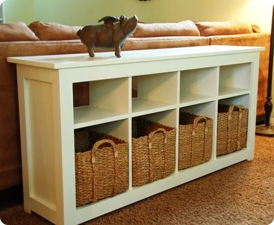 Best Of Knock Off Decor White Storage Sofa Table Diy Sofa Table