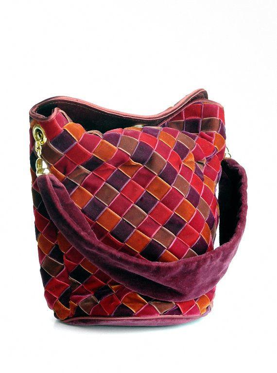 0c2fb50b6cd3 Bottega Veneta Woven Velvet Patchwork style Purse
