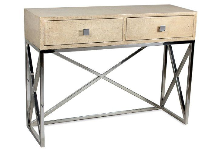 Shagreen Console W Drawers With Images Modern Console