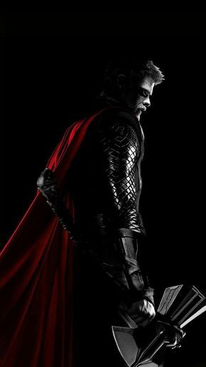 Awesome Thor wielding stormbreaker poster Marvel