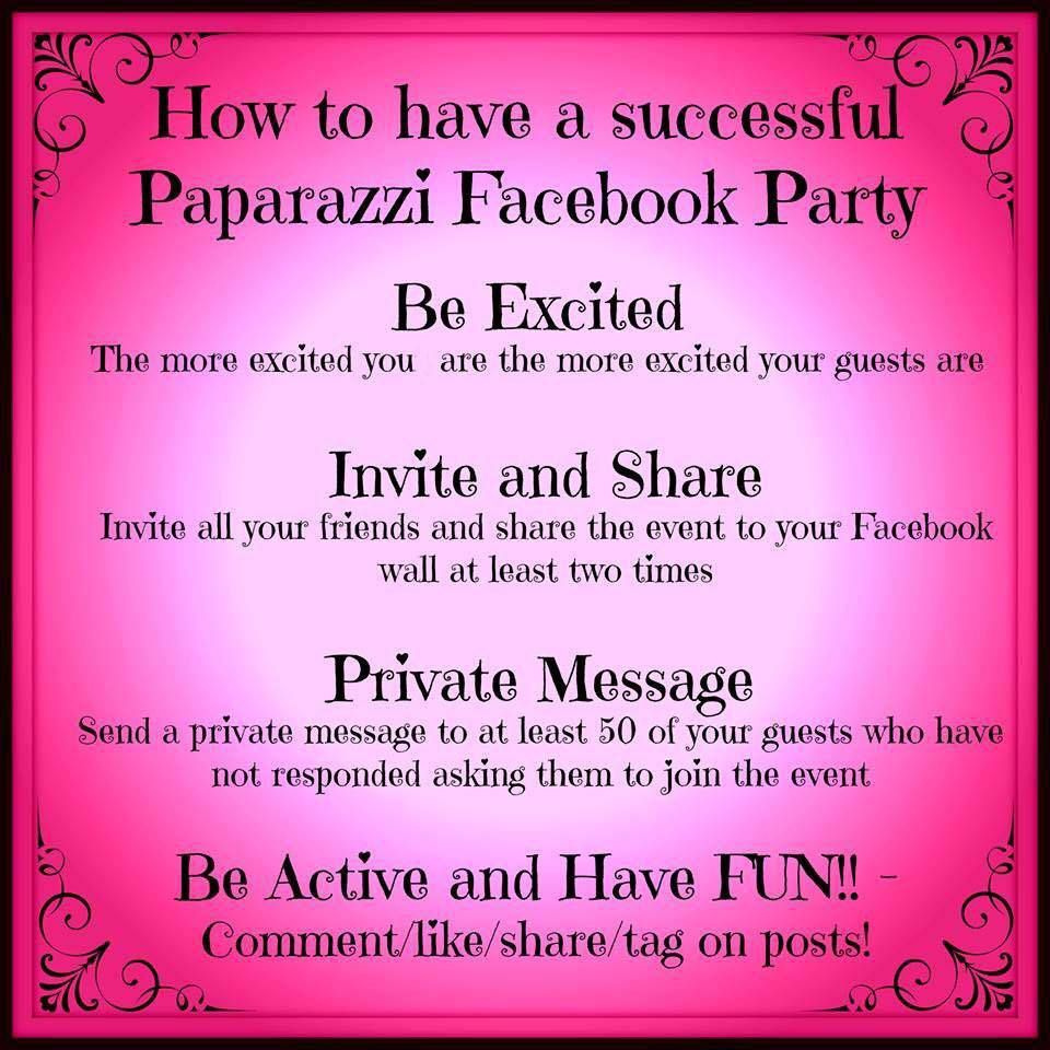 Hostess Coaching! | Paparazzi Accessories Facebook Parties ...